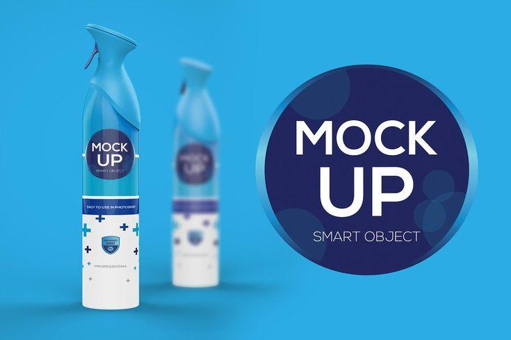 Air Freshener Spray Mock Up