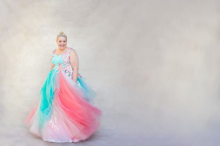 We're getting a sweet tooth from this pastel wedding dress