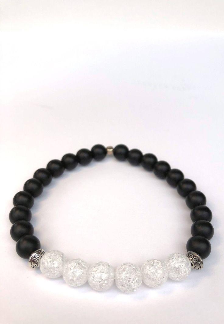 Men's bracelet / beaded bracelet / unisex bracelet / stretch bracelet / stackable bracelet by Jacqofalltradesinc on Etsy https://www.etsy.com/listing/595360387/mens-bracelet-beaded-bracelet-unisex