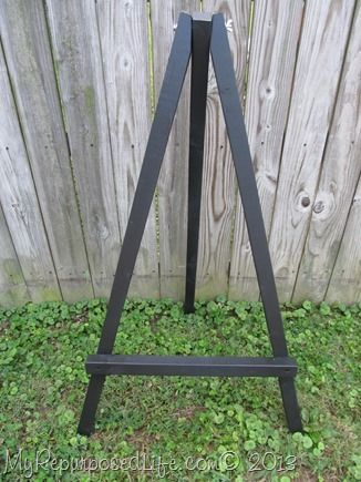 "How to Make Small Display Easels - My Repurposed Life™   USING ""D"" RINGGS TO HANG."