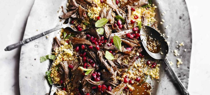 This recipe for slow-cooked lamb creates a delicious, melt-in-the-mouth supper. Perfect for feeding the family on a weekend, they'll love the fresh flavour of pomegranate with harissa-spiced couscous.