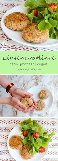 Leckeres Linsen Rezept für die schnelle Küche. Diese Linsen Bratlinge sind vegan, reich an Eiweiß und eines der besten Tiefkühlgerichte.