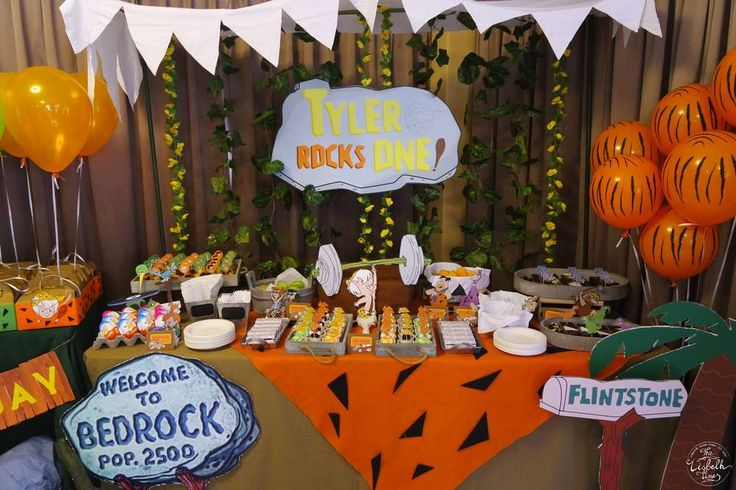 Flintstones Birthday Party Ideas | Photo 4 of 11 | Catch My Party