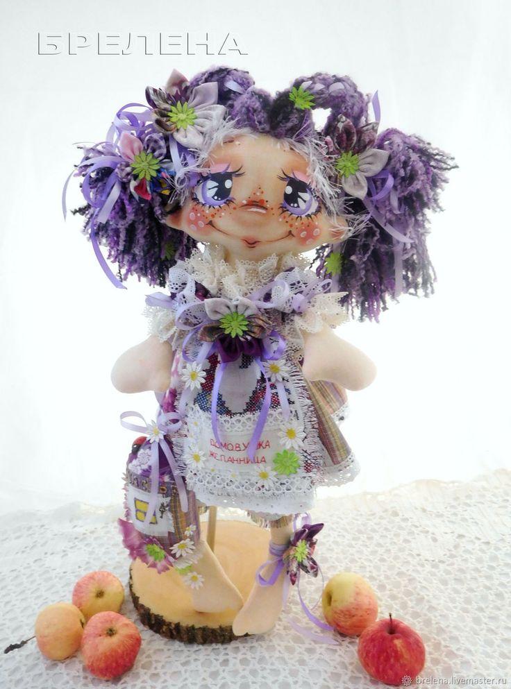 """Купить Домовушка Желанница """"На Счастье"""" Фиа.Текстильная интерьерная кукла - сиреневый, кукла"""