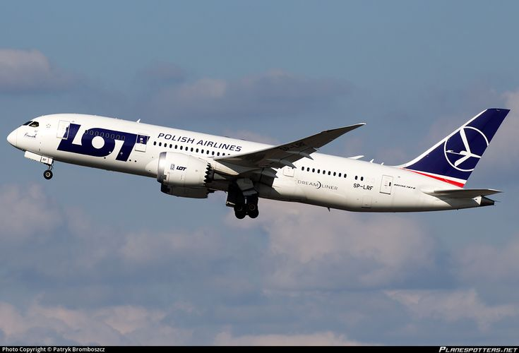 LOT - Polish Airlines Boeing 787-8 Dreamliner SP-LRF aircraft, taking off Poland Warsaw Chopin International Airport. 07/07/2016.