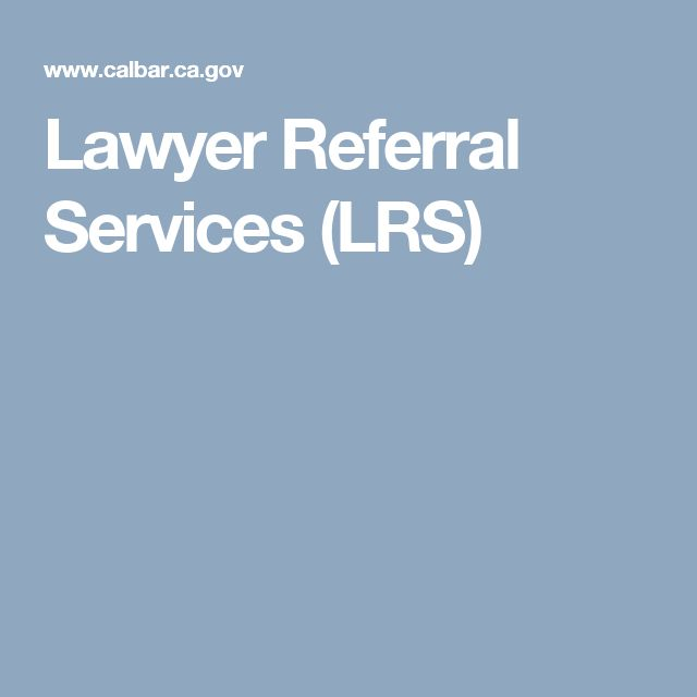 Lawyer Referral Services (LRS)