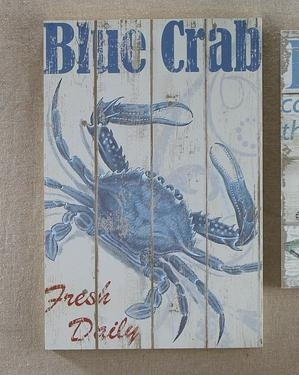 Wood Blue Crab Wall Sign Chase Pinterest Wall Signs