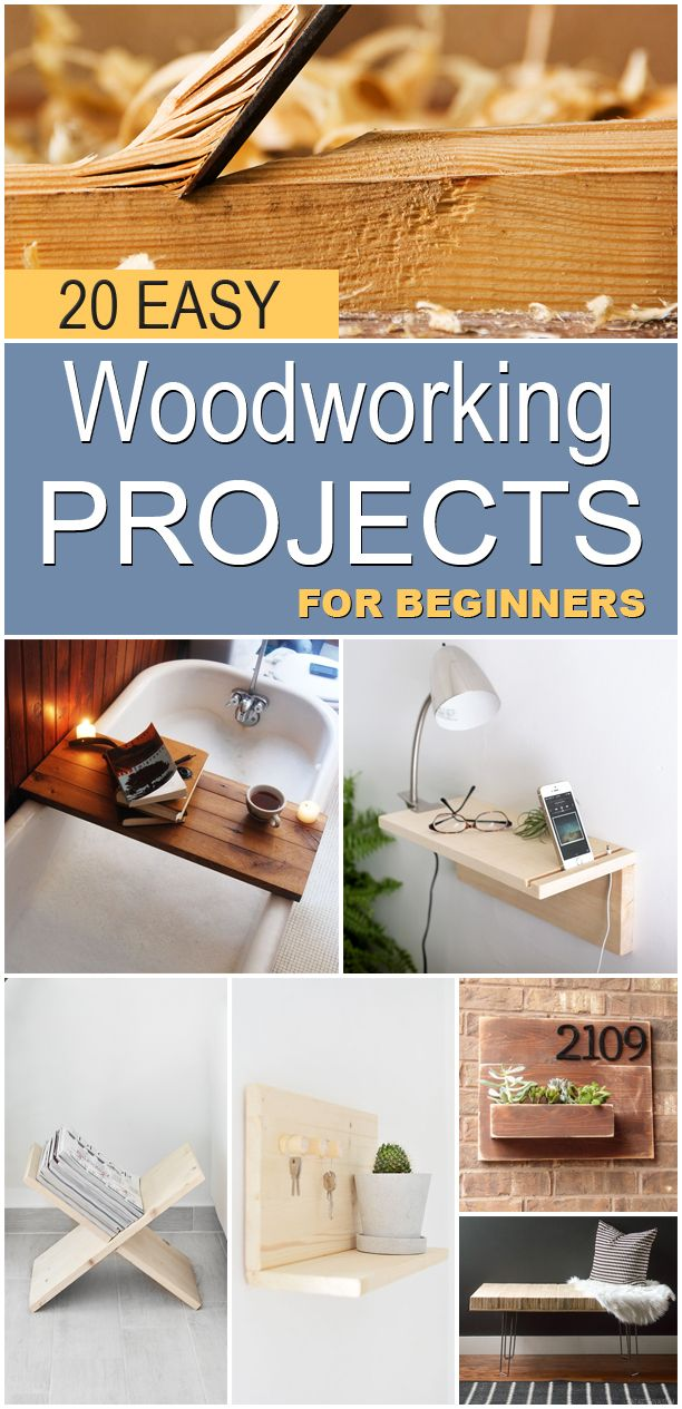 #woodworkingplans #woodworking #woodworkingprojects 20 great beginner woodworking projects that will get you comfortable with the basics of building with wood.