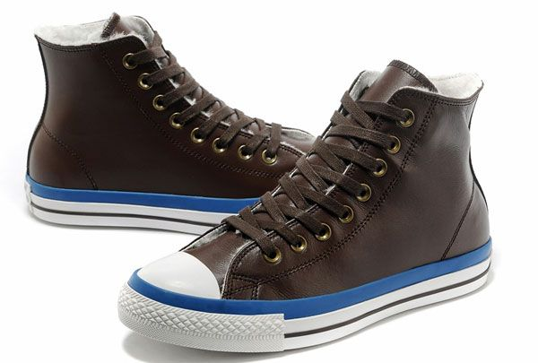 Fashion Converse Chuck Taylor Leather with Velvet Brown Blue Warm Winter Boots Sale [S13110603] - $70.00 : Discount Converse All Star Sneakers Sale,Converse All Star Sandals,Comics and Womens Platform Sneakers