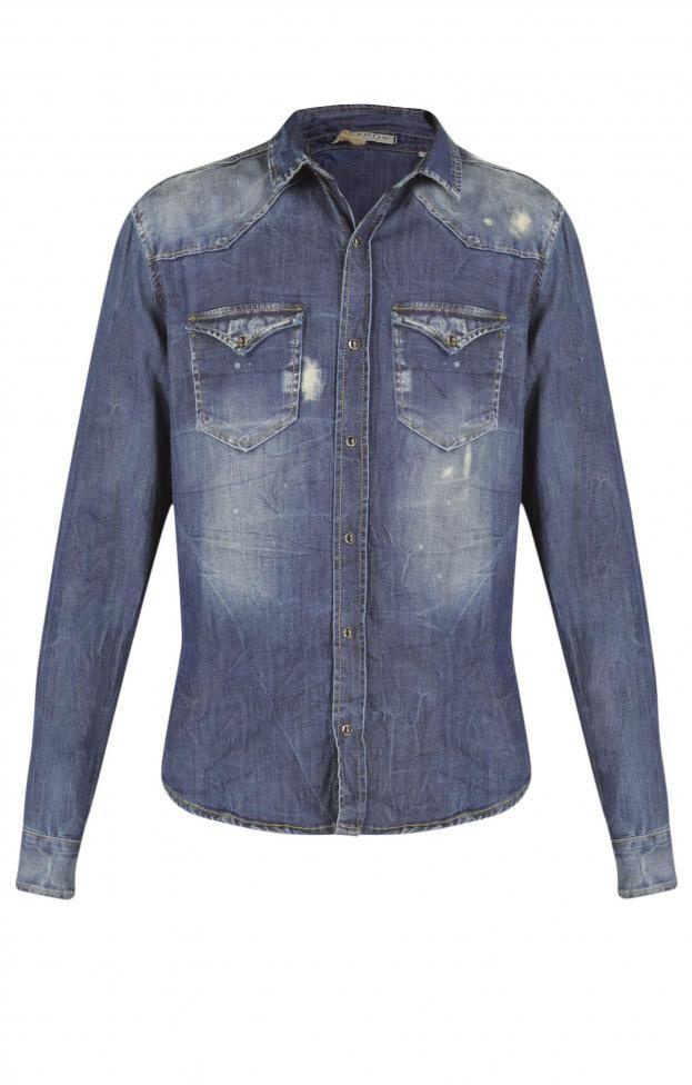 Ανδρικό πουκάμισο τζιν | Πουκάμισα - Άνδρας | Metal Deluxe