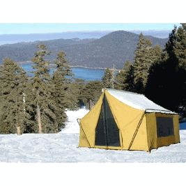 9X12 COTTON CANVAS STRAIGHT WALL BASE CAMP CABIN TENT