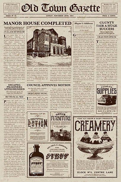 10 best Vintage Newspapers images on Pinterest Vintage newspaper - old newspaper template