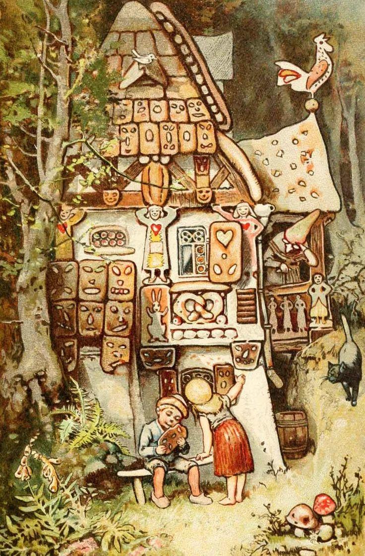 все гензель и гретель пряничный домик картинки красота