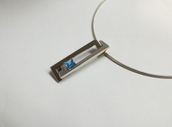 Contemporary Geometric Pendant  Sterling by BonTonContemporary