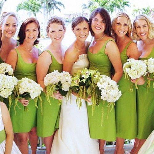 Bright Green Bridesmaid Dresses