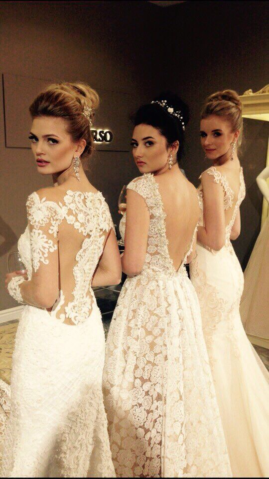 Majestic dresses of brand Katy Corso! Masterpieces for modern brides who choose only best quality and creative design! #HauteCouture #KatyCorso #Weddingdresses