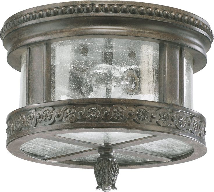 South Shore Decorating: Quorum Lighting 3280-12-43 Dauphine Traditional Outdoor Flush Mount Ceiling Light QR-3280-12-43