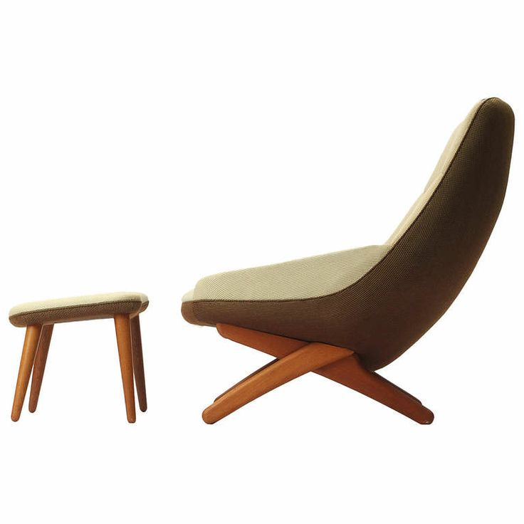 Lounge Chair And Ottoman By Illum Wikkelsoe | From a unique collection of antique and modern lounge chairs at http://www.1stdibs.com/furniture/seating/lounge-chairs/