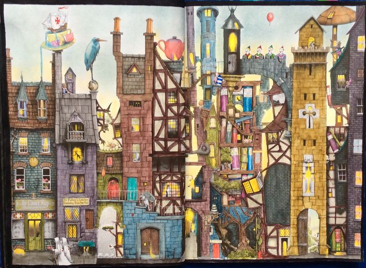 Fantastisches Malbuch. ColinThompson. Coloured by  Prue from Colouring+ with Prue