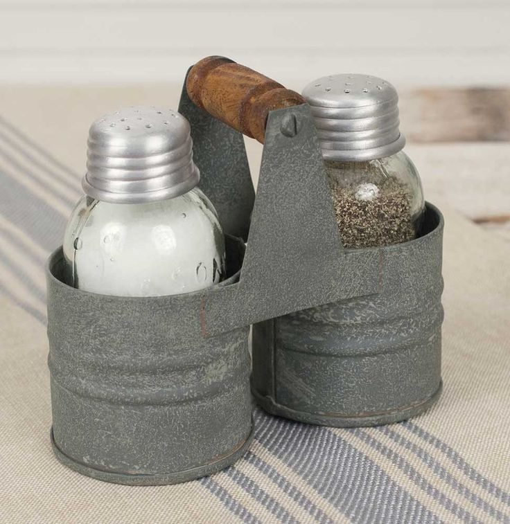 "4½""W x 2¼""D x 4""T. Includes Mason jar salt and pepper shakers. Please wash our shakers before use with food."