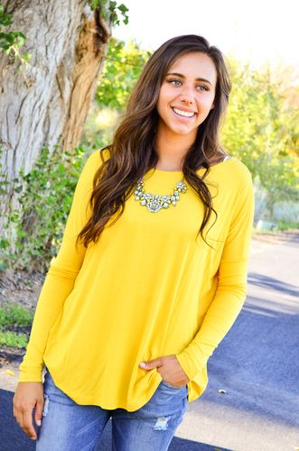 Yellow Mustard Fall Outfit Piko Top!