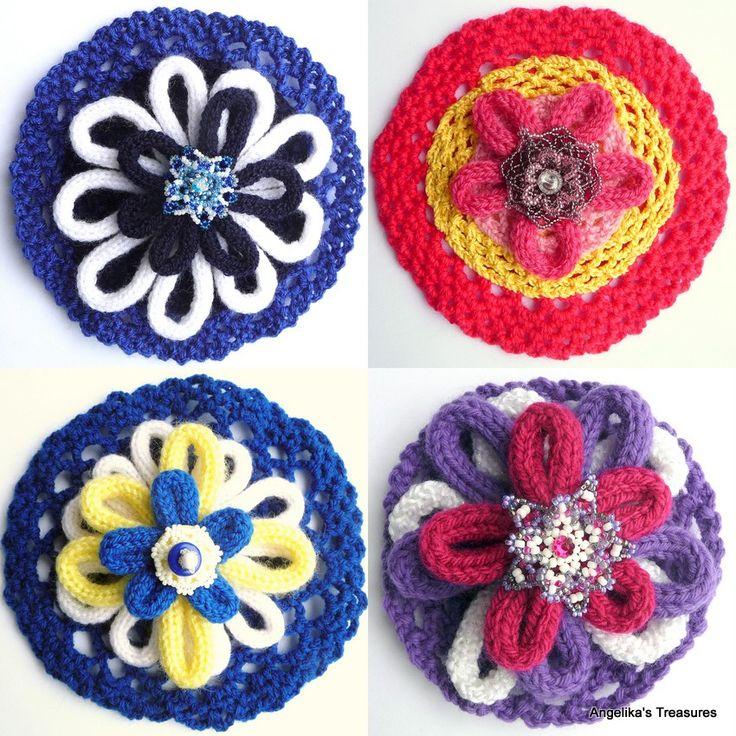 French Knitting Flowers : Beste afbeeldingen over punniken spool knitted