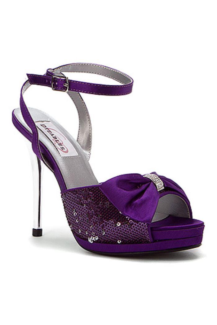 Lacey Purple Satin Shoe