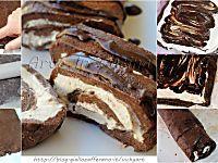 Rotolo di biscotti al tiramisu senza forno