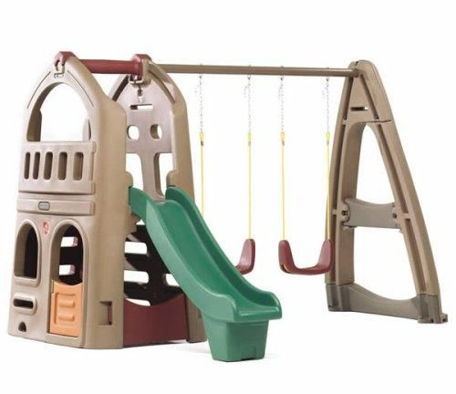 (CLICK IMAGE TWICE FOR UPDATED PRICING AND INFO)  Step2 Naturally Playful Playhouse Climber & Swing Extension - See More Gym Sets & Swings at http://www.zbuys.com/level.php?node=6403=kids-swing-sets