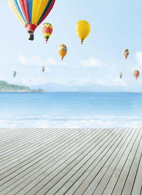 Купить товар200 см * 150 см fundo радуга воздушный шар flying3D детские фотографии фон LK 1715 в категории Задний планна AliExpress.