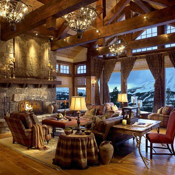 Big Sky, MT, Yellowstone Club, Kahn Design Group. Chalet DesignRustic Living  RoomsRustic RoomCabin FeverMountain CabinsLog ...
