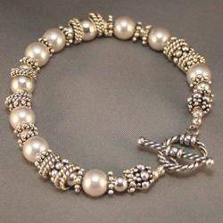 silver & pearl