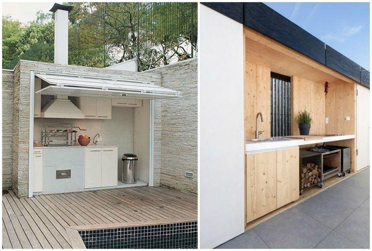 04 cocina exterior oculta jardin pinterest cocinas for Cocinas en terrazas