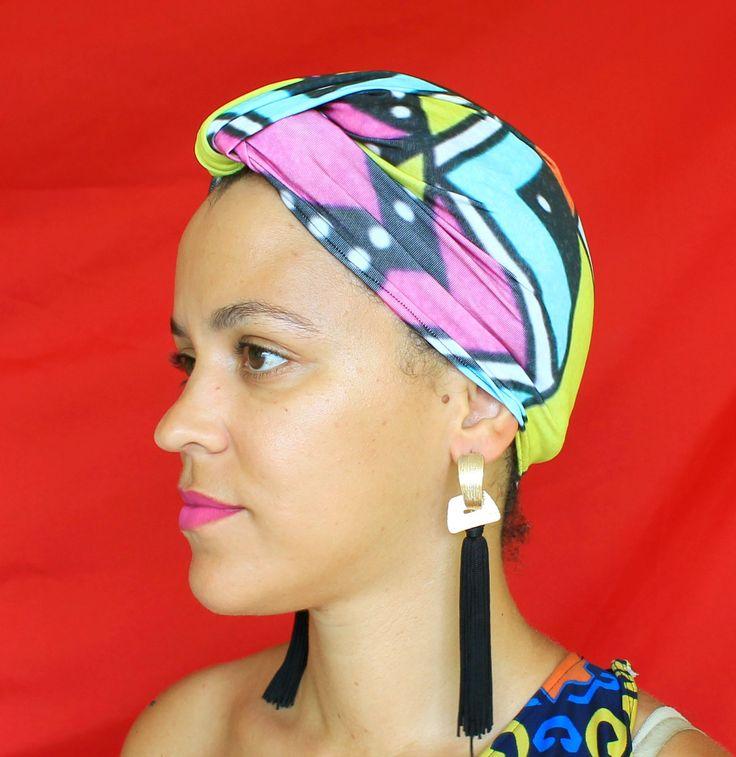 Convertible Turban Headband for Women | 1 Headband, 7 Styles To Wear It! | Turban Headband | Rainbow Convertible Turban | Travel Turban