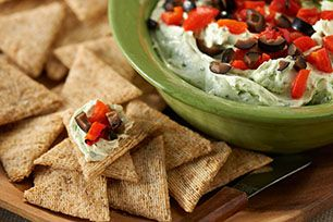 Faculty Snack:  Mediterranean Roasted Red Pepper Dip Recipe coupled with Garlic and Herb Triscuits