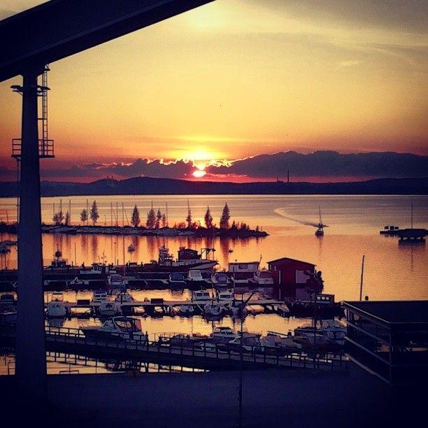 Sunset in Tampere Naislahti.