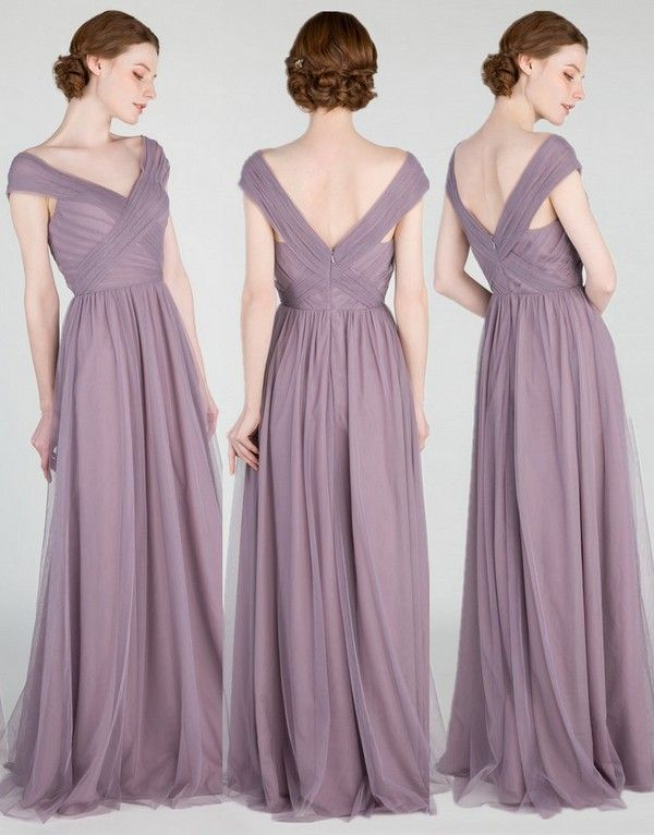Elegant Long Off Shoulder Tulle Bridesmaid Dress Tbqp420 Tulle Bridesmaid Dress Bridesmaid Dresses Wedding Bridesmaid Dresses
