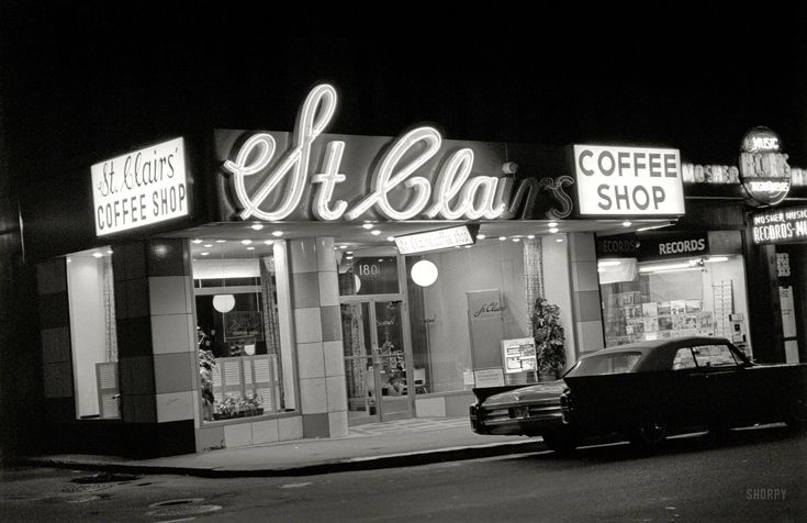 """""""St. Clairs Coffee Shop and Mosher Record Store, Boston"""