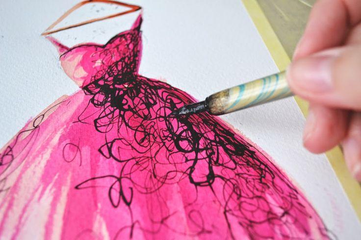 Dorinus Illustrations  #fashion #illustration #vintage #dress