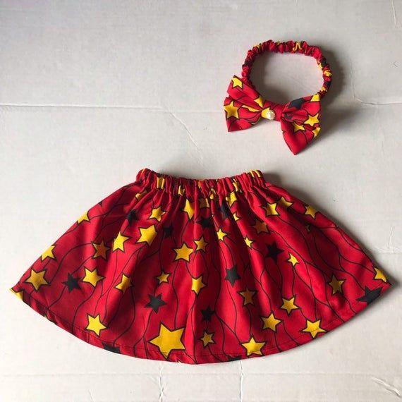 African Ankara Fabric Summer Skirt Baby Girl Skirts Girl Toddler Clothes