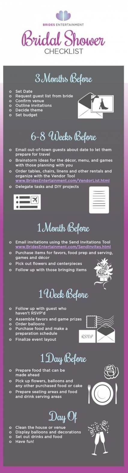 47 + Trendy Ideas Bridal Shower Planung Checkliste Veranstaltungen   – Baby Shower Recipes