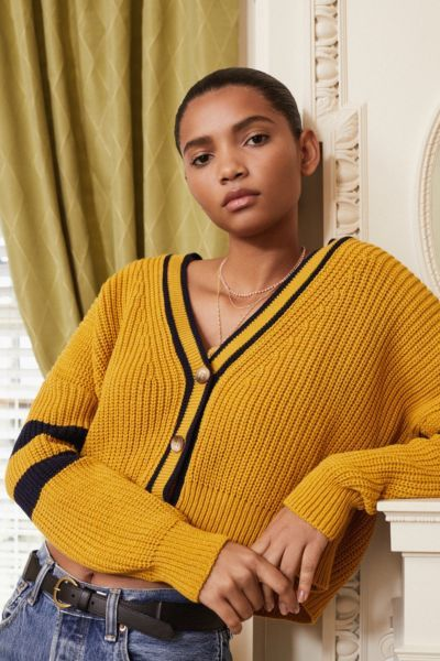 e20831a2f Shop UO Varsity Striped Cardigan at Urban Outfitters today. Discover more  selections just like this online or in-store. Shop your favorite brands and  sign ...