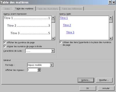 Générer un sommaire automatique dans Word