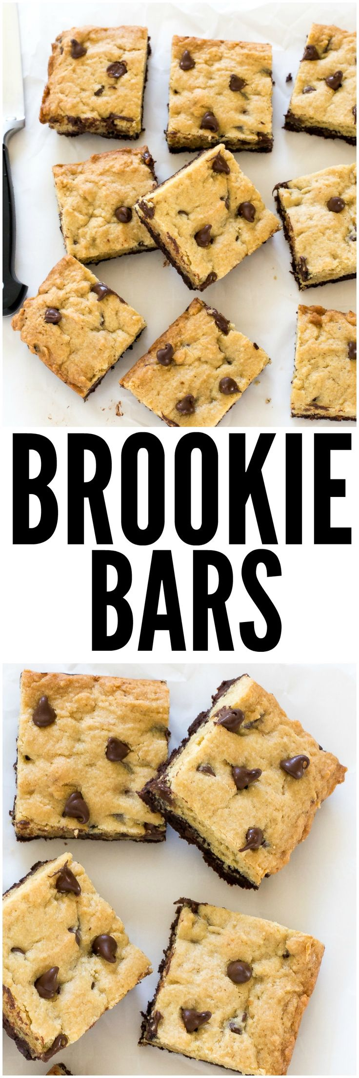 Amazing Brookie Bars! A layer of chewy chocolate chip cookie and a layer of fudgey brownie. The best of both worlds!