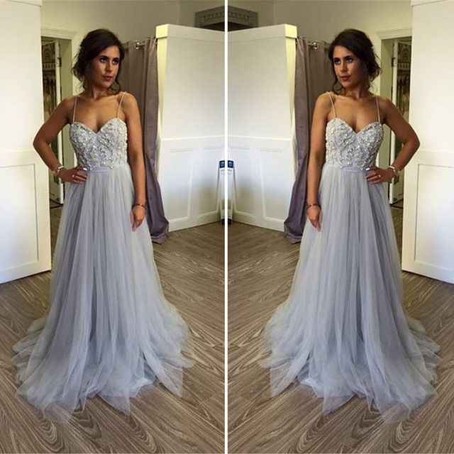 Formal Evening Dress,Spaghetti Straps Organza Evening Dress,Sexy Prom