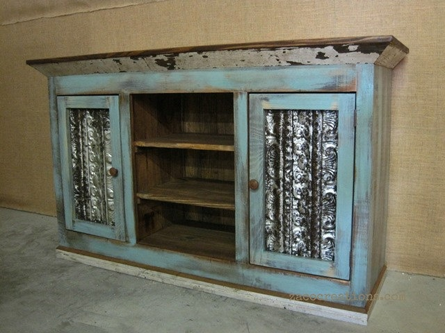 Love The Distressed Look Of This! Unique Media Console / TV Cabinet With  Storage In By ZacoCreations