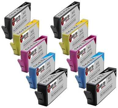 10 Pack Compatible Ink Cartridge Replacements for HP 564XL (2 Black, 2 Photo Black, 2 Cyan, 2 Magenta, 2 Yellow)