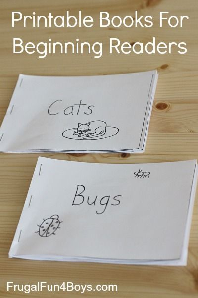 Free Printable Books for Beginning Readers - Level 1 (Easy) - Frugal Fun For Boys