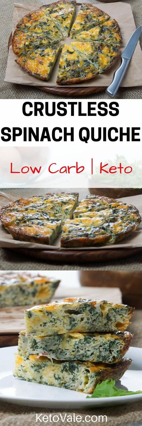 Check this Keto Crustless Spinach Quiche Low Carb Recipe. Super tasty!