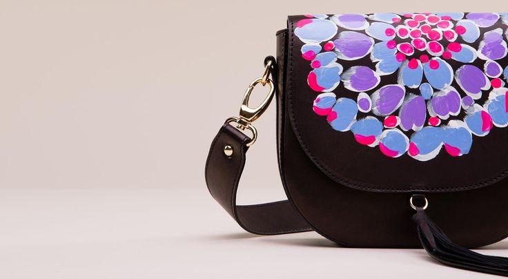 Yuriko saddlebag - handpainted leather